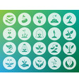 sprout shape carved flat icons set vector image