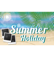Summer holiday card with beautiful tropical island vector image