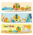 tailor elements horizontal banners vector image vector image
