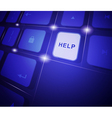 The button help on a virtual keyboard vector image vector image