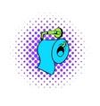 Toilet paper icon comics style vector image