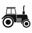 Tractor icon simple style vector image vector image