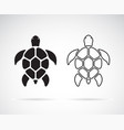 turtle design on a white background reptile vector image vector image