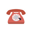 vintage telephone communication call talk icon vector image vector image