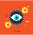 vision flat concept vector image vector image