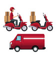 white background with set vehicles of transport vector image vector image