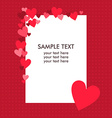 White paper sheet with text on the red background vector image