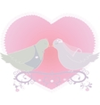 with a pair of pigeons vector image vector image