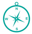 compass icon isolate on white background vector image