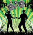 dance grunge background vector image