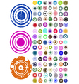 105 Circle Graphic Elements vector image vector image