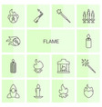 14 flame icons vector image vector image