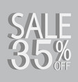 3d sale off text vector image vector image