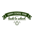 Back to School typography Designs Label vector image
