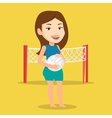Beach volleyball player vector image vector image