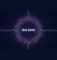 big data visual information flow vector image vector image