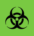 biohazard symbol in flat style vector image