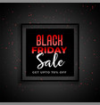 black friday sale banner in red and black theme vector image vector image