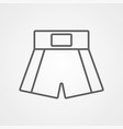 boxing short icon sign symbol vector image