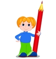 boy and redpencil vector image vector image