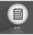 calculator Flat modern web button with long shadow vector image vector image