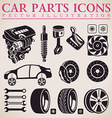 Car parts set repair car service icons vector image