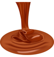 Chocolate flow of melting chocolate Chocolate drop vector image