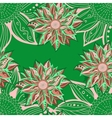 Colorful flowers seamless pattern Floral frame vector image vector image