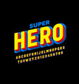 comics superhero style font alphabet letters and vector image vector image