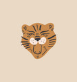 cute tiger face composition ecology concept vector image