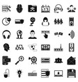 cyber security icons set simple style vector image vector image