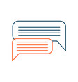dialog messaging bubble sign concept of vector image vector image