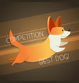 dog - modern phrase flat vector image vector image