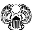 egyptian scarab beetle black and white vector image