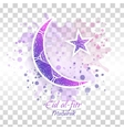 Eid al-fitr on transparent vector image vector image