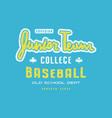 emblem junior baseball team vector image vector image