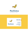 flat sparrow logo and visiting card template vector image vector image