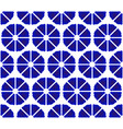flower pattern blue and white vector image vector image