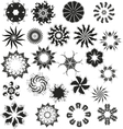 Flowers Black Set vector image vector image