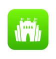fortress icon green vector image vector image