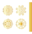 Geometric gold circular ornament set vector image