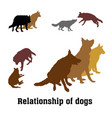 group of dogs vector image vector image