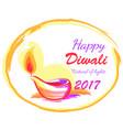 happy diwali 2017 festival of lights banner vector image