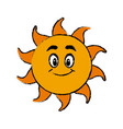 happy sun cartoon mascot character vector image