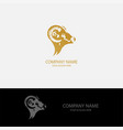 head goat abstract logo vector image