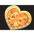 heart with diamond vector image