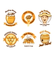 Honey labels and beekeeping logo vector image vector image