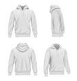 hoodie realistic fashion sport clothes for man vector image vector image