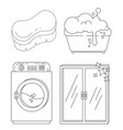 household supplies and cleaning flat icons vector image vector image