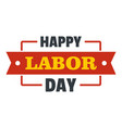 labor day happy logo icon flat style vector image vector image